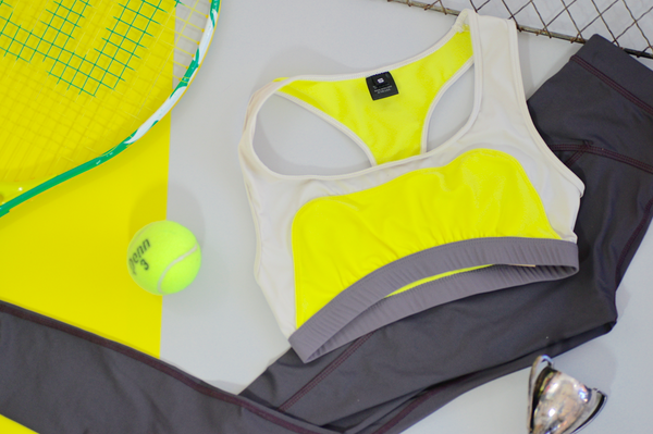 Convexity Swim & Workout Bra Top: Lemon Lime