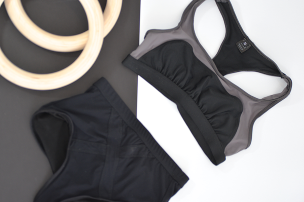 Convexity Swim & Workout Bra Top: Black
