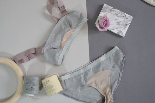 Convex Sleep Bra: Grey