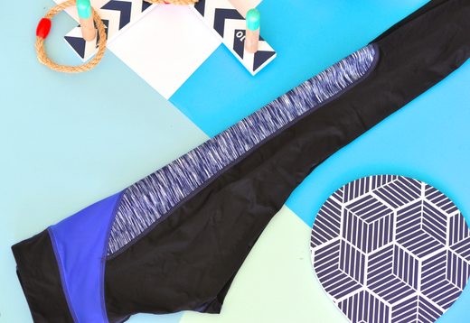 X-Curvate Legging W: Navy Space Dye