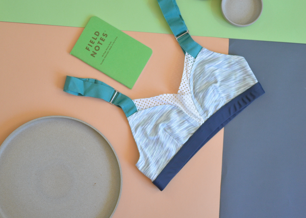 Stripe B Bra: Space Dye Mint