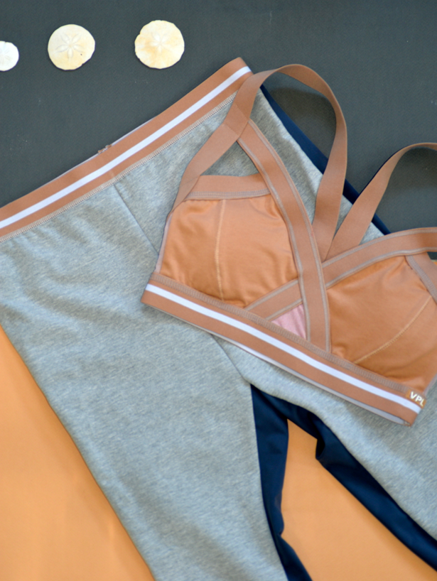 Insertion Bra W: Nude with White Stripe