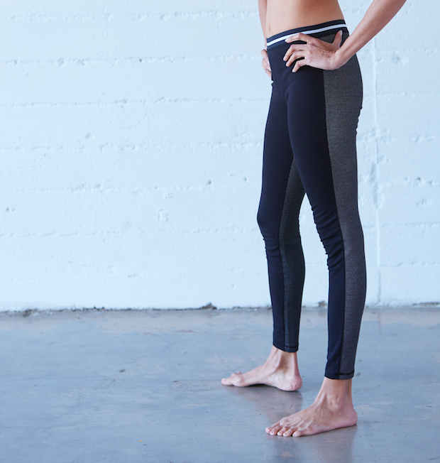 Spindle Legging: Black dot
