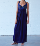 Ippon Maxi Dress: Navy