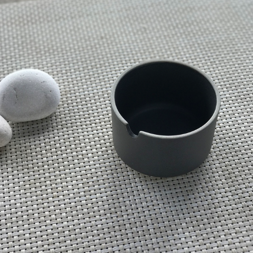 Hasami Black Sugar Pot 3 3/8