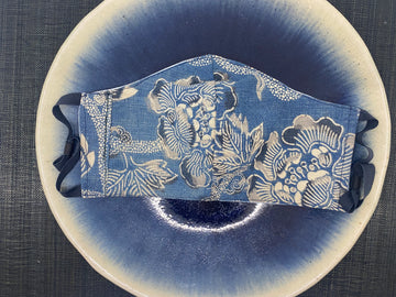 Boro Mask (indigo grey ume)