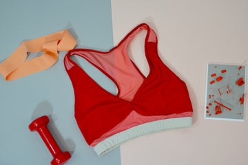 Trapeze Bra Top: Fiery Red
