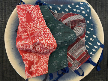 A Set of 4 Japanese Kimono Masks (holiday)