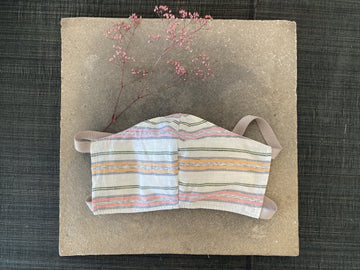 Japanese Vintage Yarn Dye Masks (Pink Stripe)