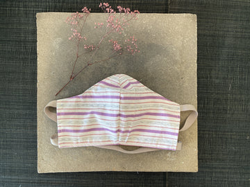 Japanese Vintage Yarn Dye Masks (Purple Stripe)
