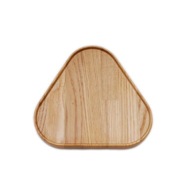 "Hasami Oak Wood Tray Triangle 6 1⁄4"" x 6 3⁄4"""