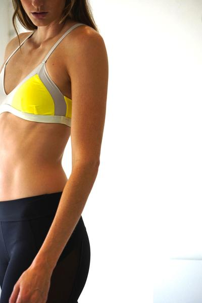 Tani Swim Bottom: Yellow Ecru