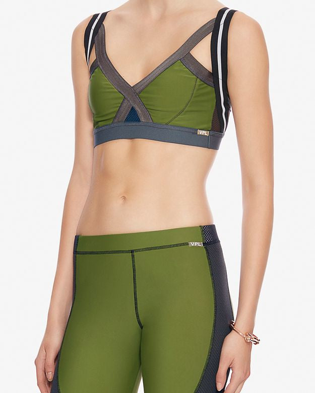 Insertion Bra W: Moss