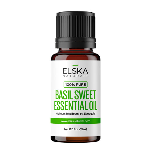 Basil Sweet Essential Oil in Canada/USA at Bulk Wholesale Prices From Elska Naturals