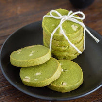 Matcha Green Tea & White Chocolate Chip Cookies