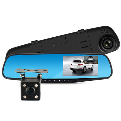 Full HD 1080P Car Dvr Camera Auto 4.3 Inch Rearview Mirror Digital Video Recorder Dual Lens Registratory Camcorder