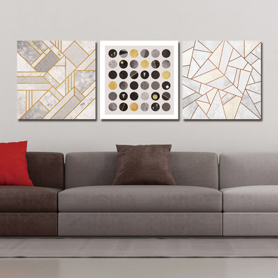3PCS  Boreal Europe Geometric Graph Print