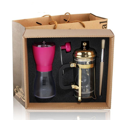 Espresso Grinder+ 350ml Coffee French Press Pot Stocked
