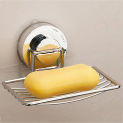 Soap Dish Holder Stainless Steel Wall-mounted Strong Vacuum Suction