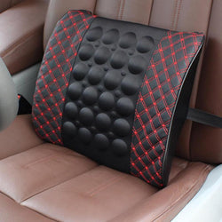 Car Lumbar Support Pillow 12V Electric Massage Auto Seat Back Relaxation