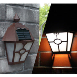 Solar Powered Hexagonal Wall Lamp