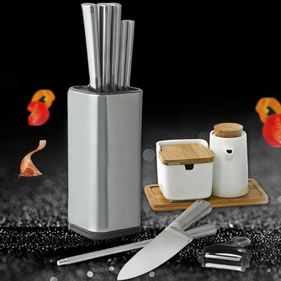 Stainless Steel Knife Stand Large Capacity Storage Holder
