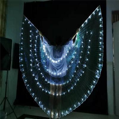 Led Luminous Butterfly Wings Cloak For Party, Cosplay Costume Outfit