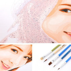Frame-less Customize Oil Paintings DIY Drawing Coloring by Numbers