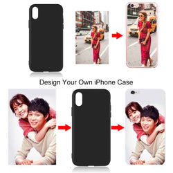 Customized DIY Black Soft Phone Case For Apple iPhone - Amazing Vanity Allure
