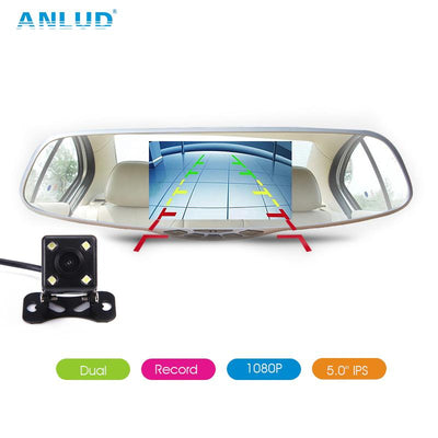 ANLUD Dash Camera 5.0 Dual Lens Dashcam GPS 1080P
