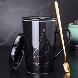 Ceramic Coffee Mug With Your Zodiac Constellation With Tea Strainer - Amazing Vanity Allure