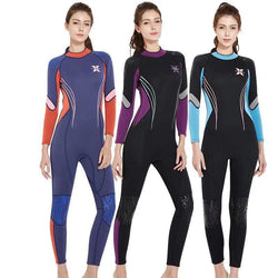 Womens Scuba Diving 3mm Neoprene Suit Long Sleeve