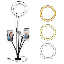 Ring Light and Phone Holder kit for Selfie Amvaal