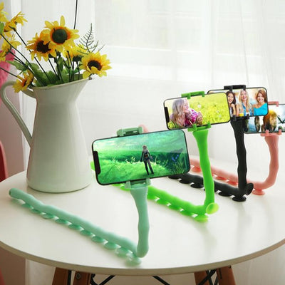 Mobile Phone Holder Desktop Flexible Worm Car Mount