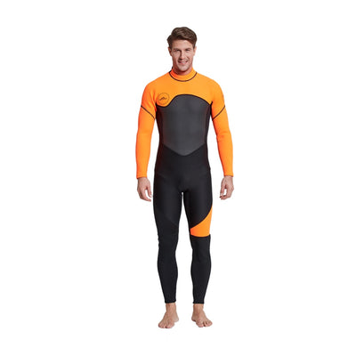 Men's Full Body Wetsuit, 3mm Men Neoprene Long Sleeves