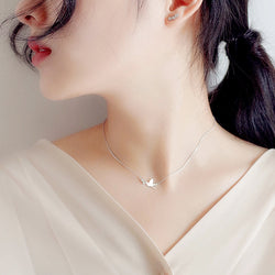 Korean 925 Sterling Silver Jewelry Zirconia Swallow Choker Necklaces