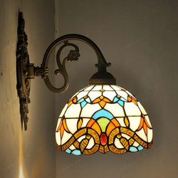 Antique Baroque glass wall lamp - Amazing Vanity Allure