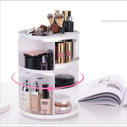 360-degree Rotating Makeup Organizer Box - Amazing Vanity Allure