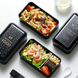 Portable Rectangular Lunch Box Double