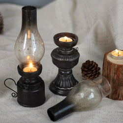 Creative Resin Crafts Nostalgic Kerosene Lamp Candle Holder