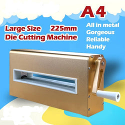 Metal Dies Cutting Stencil Embossing Machine A4 225mm 8.8inch