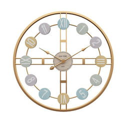Metal Roman Numeral DIY Décor Wall Clock