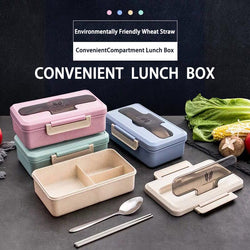 Microwave Seal Lunch Box Wheat Straw Dinnerware Food Storage Container
