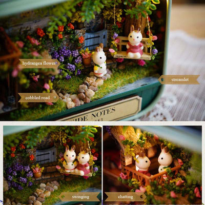 Handmade Wooden Miniature DIY 3D Doll House