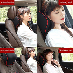 Car Headrest Cotton Breathable Neck Pillow.