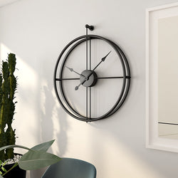 Large Vintage Metal Wall Clock Modern Design