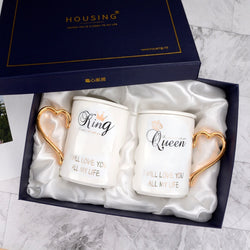 2Pcs/Set Couple Cup Ceramic Kiss Mug with Gift Box - Amazing Vanity Allure