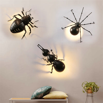 Outdoor Insects LED Ant Spider Beetle Wall Lamps