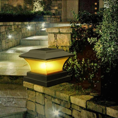 Solar Power LED Garden Fence Lamp