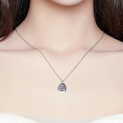 925 Sterling Silver Handshake Necklace Long Chain
